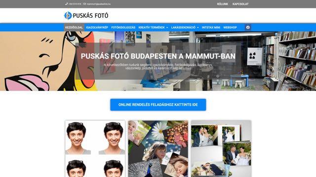 puskasfoto.hu weboldal